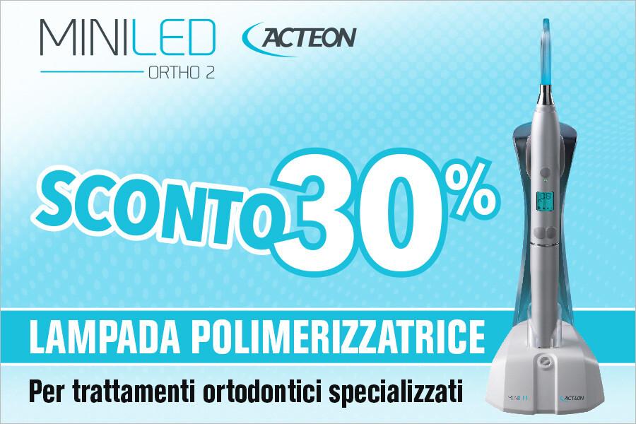 Lampada polimerizzatrice per trattamenti ortodontici specializzati